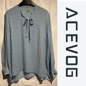 ACEVOG Women's Size XXL Blouse Top Shirt Tunic EUC